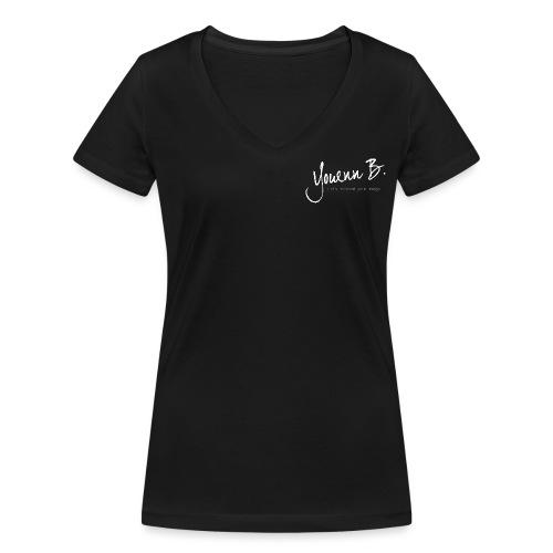 Logo YouennB White - T-shirt bio col V Stanley & Stella Femme