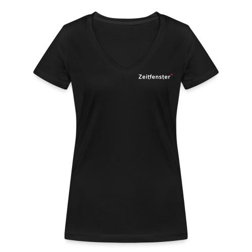Zeitfenster Logo - Frauen Bio-T-Shirt mit V-Ausschnitt von Stanley & Stella