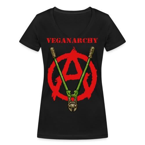 Veganarchy - Frauen Bio-T-Shirt mit V-Ausschnitt von Stanley & Stella