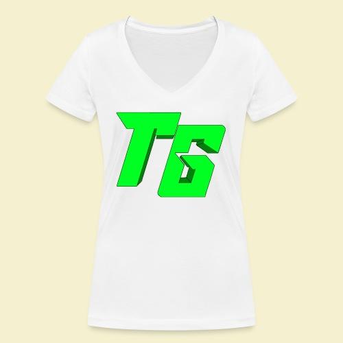 TristanGames logo merchandise [GROOT LOGO] - Vrouwen bio T-shirt met V-hals van Stanley & Stella