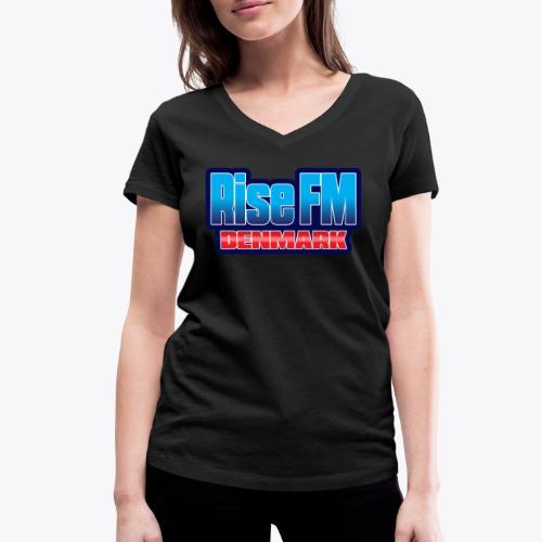 Rise FM Denmark Text Only Logo - Økologisk Stanley & Stella T-shirt med V-udskæring til damer