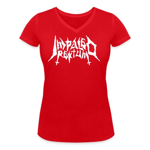 Impaled Rektum -logo shirt - Stanley & Stellan naisten v-aukkoinen luomu-T-paita