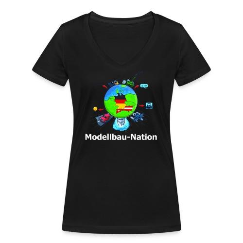 MBN Bunt Weiß - Frauen Bio-T-Shirt mit V-Ausschnitt von Stanley & Stella