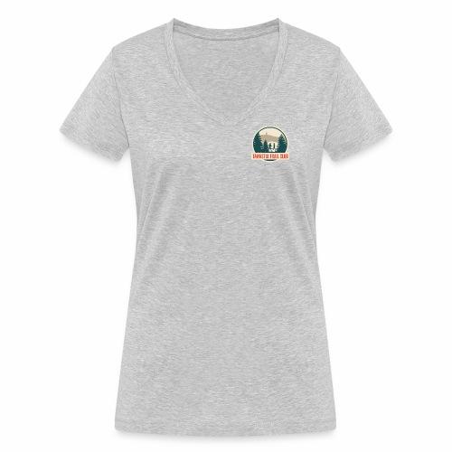 Tawastia Trail Logo - Stanley & Stellan naisten v-aukkoinen luomu-T-paita