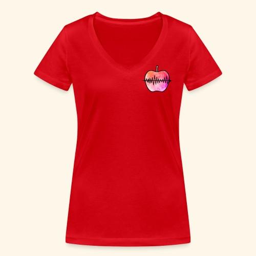 AppleJazzDK Logo - Økologisk Stanley & Stella T-shirt med V-udskæring til damer