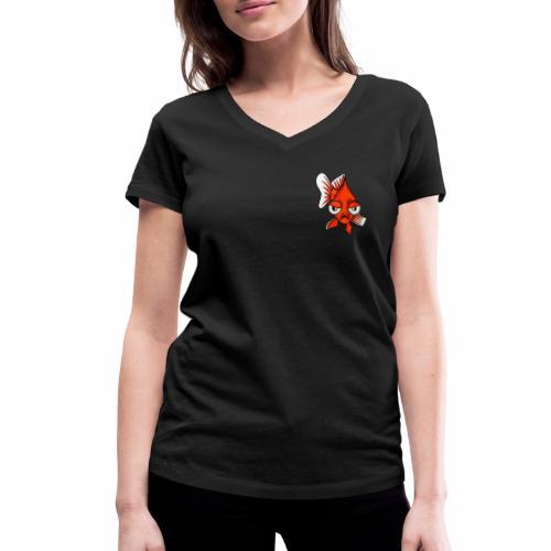 Boze vis - Vrouwen bio T-shirt met V-hals van Stanley & Stella