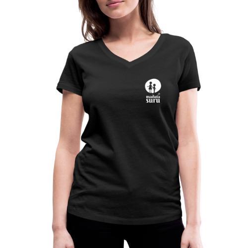 Madata einfarbig - Frauen Bio-T-Shirt mit V-Ausschnitt von Stanley & Stella