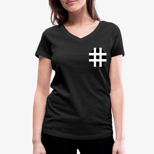 Hastag... - T-shirt ecologica da donna con scollo a V di Stanley & Stella