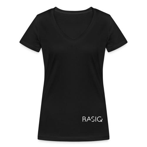 BASIQ white - Frauen Bio-T-Shirt mit V-Ausschnitt von Stanley & Stella