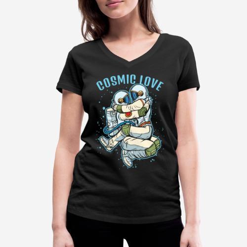kosmische Liebe Astronautenraum - Frauen Bio-T-Shirt mit V-Ausschnitt von Stanley & Stella