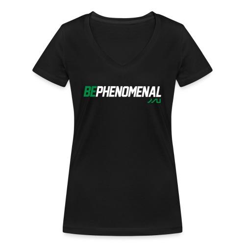 BePhenomenal motivational fitness T-Shirt - Women's Organic V-Neck T-Shirt by Stanley & Stella