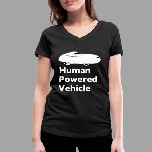 Quest Human Powered Vehicle 2 white - Stanley & Stellan naisten v-aukkoinen luomu-T-paita