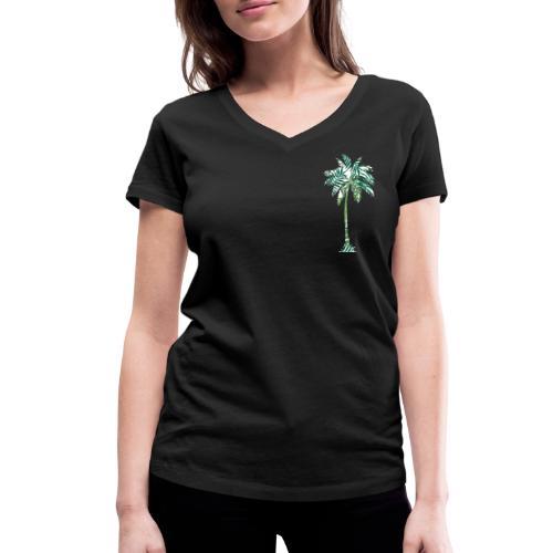 Fancy Palme Grün - Frauen Bio-T-Shirt mit V-Ausschnitt von Stanley & Stella