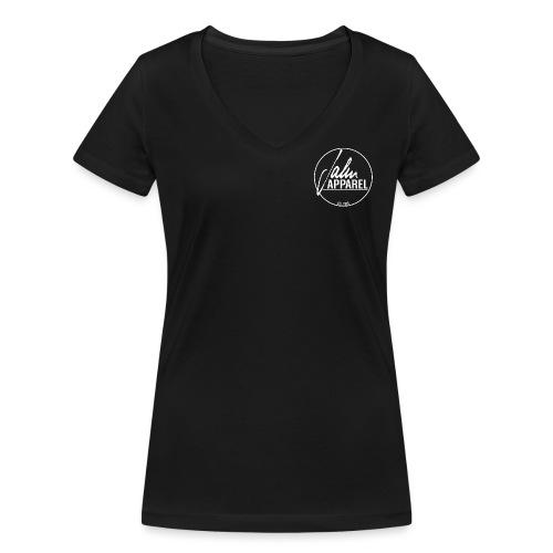 JahnApparel Bryst Logo - Økologisk Stanley & Stella T-shirt med V-udskæring til damer