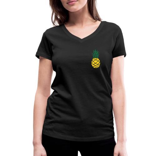 Pineapple - Vrouwen bio T-shirt met V-hals van Stanley & Stella
