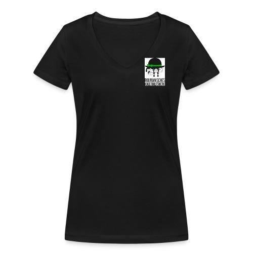 bkhw logo 4c gross - Frauen Bio-T-Shirt mit V-Ausschnitt von Stanley & Stella