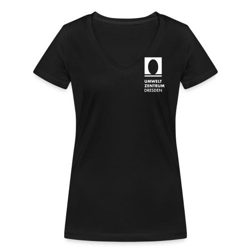 UZ-Logo-v-Schwarz [Konver - Frauen Bio-T-Shirt mit V-Ausschnitt von Stanley & Stella
