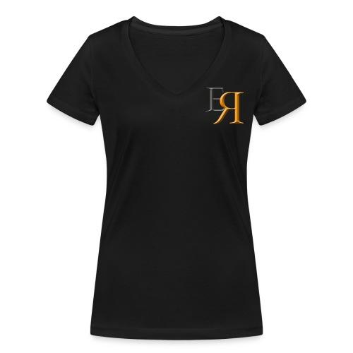 EnRakker Logo - Økologisk T-skjorte med V-hals for kvinner fra Stanley & Stella