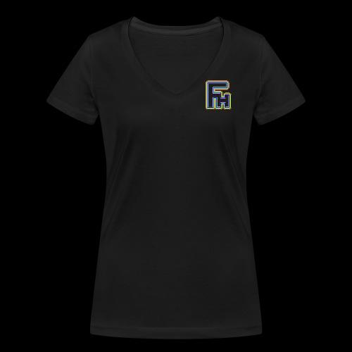 Frosty Haggis Rainbow - Women's Organic V-Neck T-Shirt by Stanley & Stella