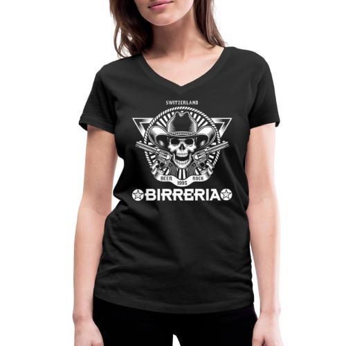 Sheriff Skull with Revolver - Frauen Bio-T-Shirt mit V-Ausschnitt von Stanley & Stella