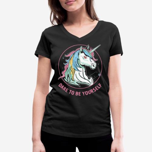 unicorn dare utopia - Frauen Bio-T-Shirt mit V-Ausschnitt von Stanley & Stella