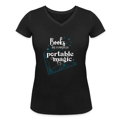 0030 books are unique magic | Magic - Women's Organic V-Neck T-Shirt by Stanley & Stella