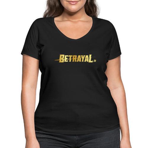00417 Betrayal dorado - Camiseta ecológica mujer con cuello de pico de Stanley & Stella