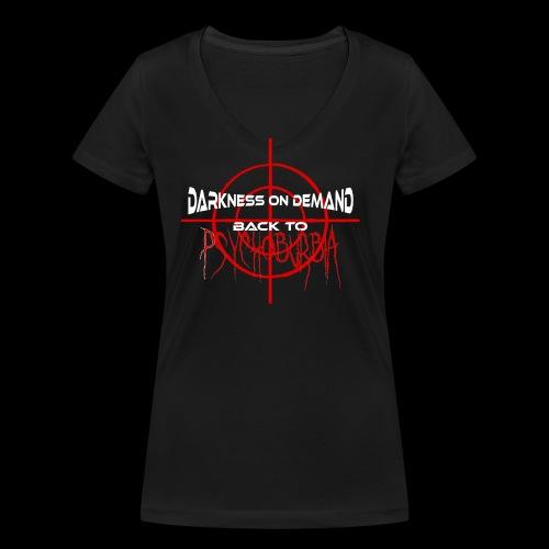 DoD Back to Psychoburbia - Frauen Bio-T-Shirt mit V-Ausschnitt von Stanley & Stella