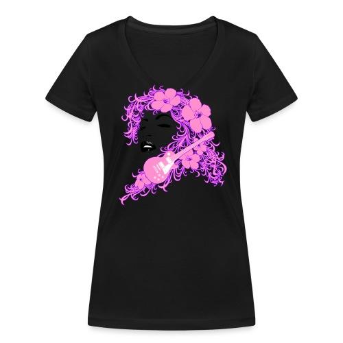 Lady Flo - T-shirt ecologica da donna con scollo a V di Stanley & Stella