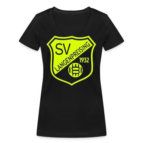 Wappen einfarbig filigran - Frauen Bio-T-Shirt mit V-Ausschnitt von Stanley & Stella
