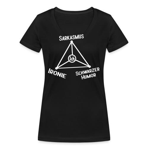Ironie Sarkasmus Schwarzer Humor Nerd Dreieck - Frauen Bio-T-Shirt mit V-Ausschnitt von Stanley & Stella