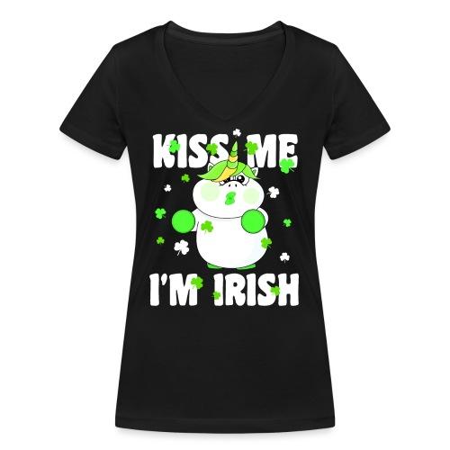 Kiss me I'm Irish Unicorn Einhorn - Frauen Bio-T-Shirt mit V-Ausschnitt von Stanley & Stella
