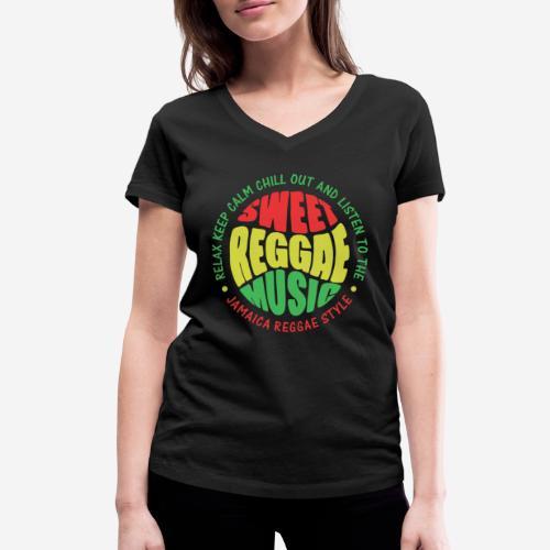 relax chill reggae music jamaica - Frauen Bio-T-Shirt mit V-Ausschnitt von Stanley & Stella