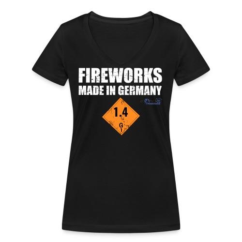 Feuerwerk aus Deutschland Pyrotechnik - Frauen Bio-T-Shirt mit V-Ausschnitt von Stanley & Stella