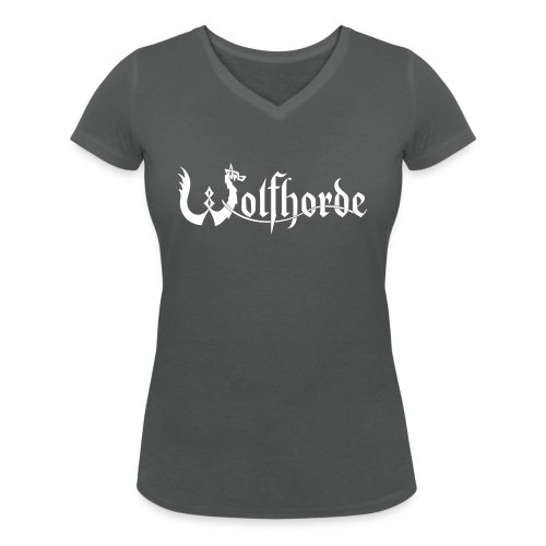 wolfhorde vector black - Women's Organic V-Neck T-Shirt by Stanley & Stella