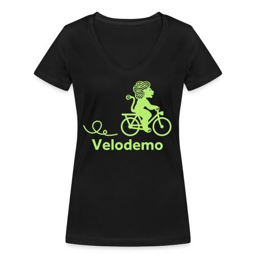 Züri-Leu mit Text - Frauen Bio-T-Shirt mit V-Ausschnitt von Stanley & Stella