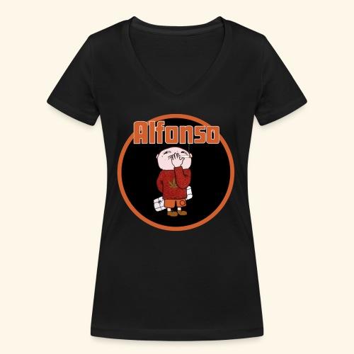 Alfonso - Ekologisk T-shirt med V-ringning dam från Stanley & Stella