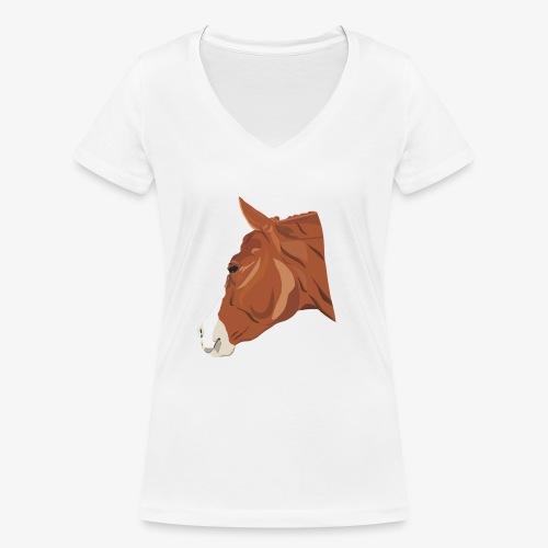 Quarter Horse - Frauen Bio-T-Shirt mit V-Ausschnitt von Stanley & Stella