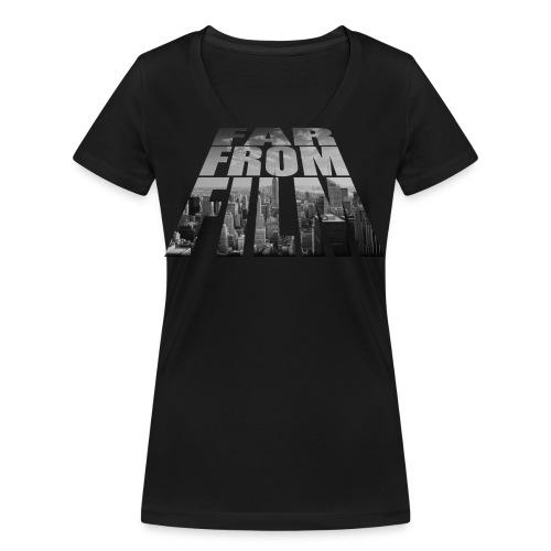 Far from Film NYC - Women's Organic V-Neck T-Shirt by Stanley & Stella