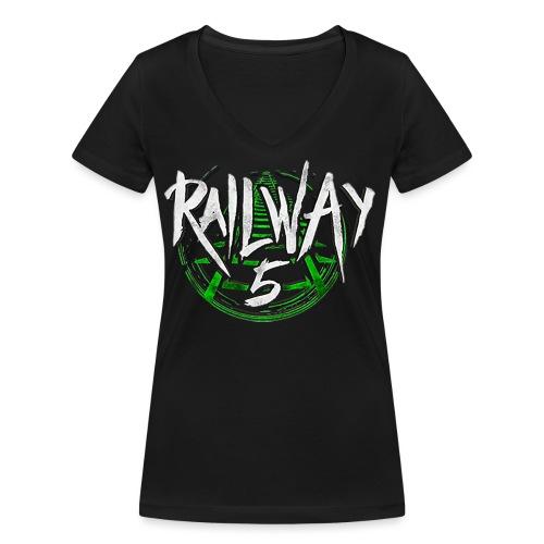 Railway 5 Logo Color - Frauen Bio-T-Shirt mit V-Ausschnitt von Stanley & Stella