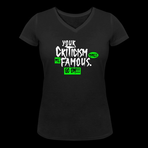 CRITICA 2 - Camiseta ecológica mujer con cuello de pico de Stanley & Stella