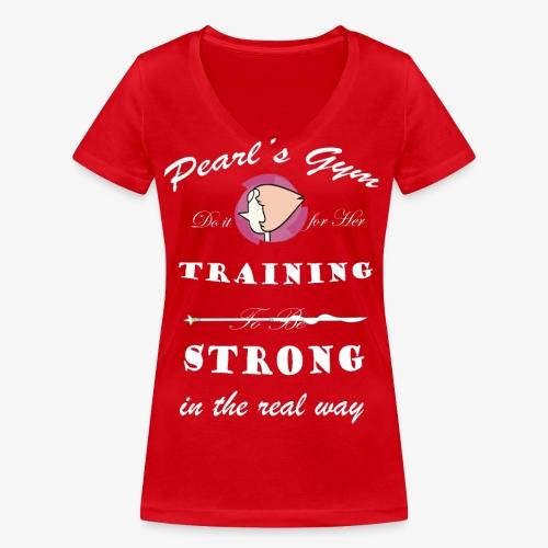 Strong in the Real Way - T-shirt ecologica da donna con scollo a V di Stanley & Stella