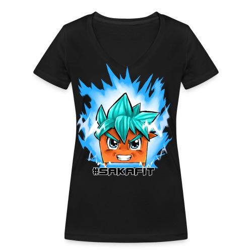 #sakaFIT Blue - Frauen Bio-T-Shirt mit V-Ausschnitt von Stanley & Stella