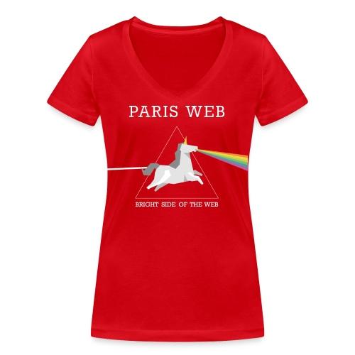 Bright side of the web sac - T-shirt bio col V Stanley & Stella Femme