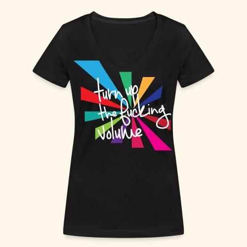 Turn up the volume - T-shirt bio col V Stanley & Stella Femme
