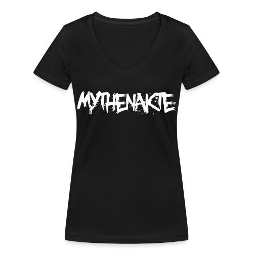 mythenakte weiß - Frauen Bio-T-Shirt mit V-Ausschnitt von Stanley & Stella