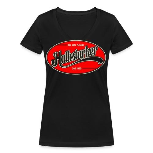halbstarker only black - Frauen Bio-T-Shirt mit V-Ausschnitt von Stanley & Stella