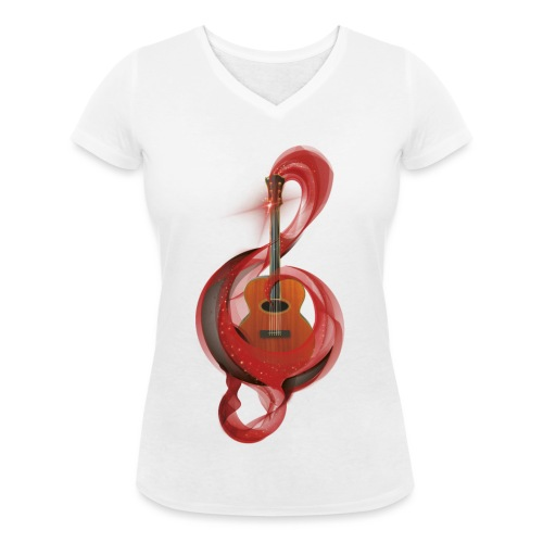 Power of music - T-shirt ecologica da donna con scollo a V di Stanley & Stella