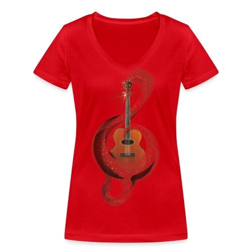 Power of music - T-shirt ecologica da donna con scollo a V di Stanley & Stella