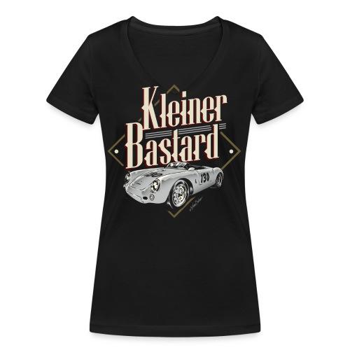 bastard only black tshirt - Frauen Bio-T-Shirt mit V-Ausschnitt von Stanley & Stella